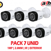 Kit 7 Camaras de Seguridad Exterior Dahua 1mp 2.8mm IR 20mts