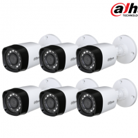 Kit 6 Camaras de Seguridad Exterior Dahua 1mp 2.8mm IR 20mts