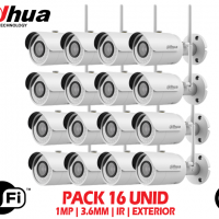 Kit 16 Camaras de Seguridad Wifi Exterior Dahua 1mp 2.8mm 30mts